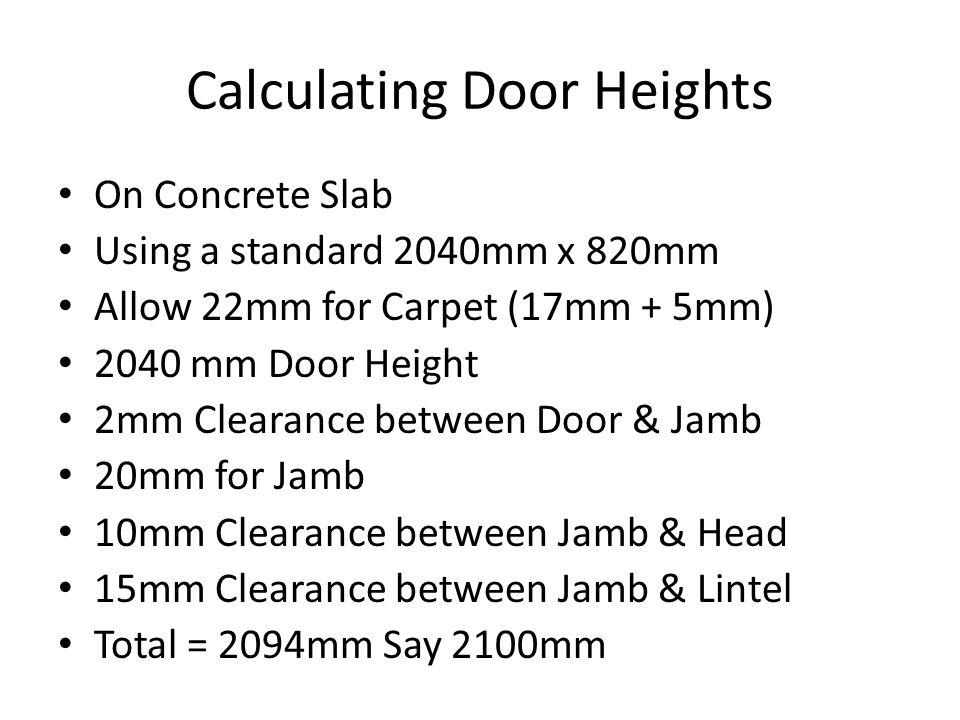 Calculating Door Heights