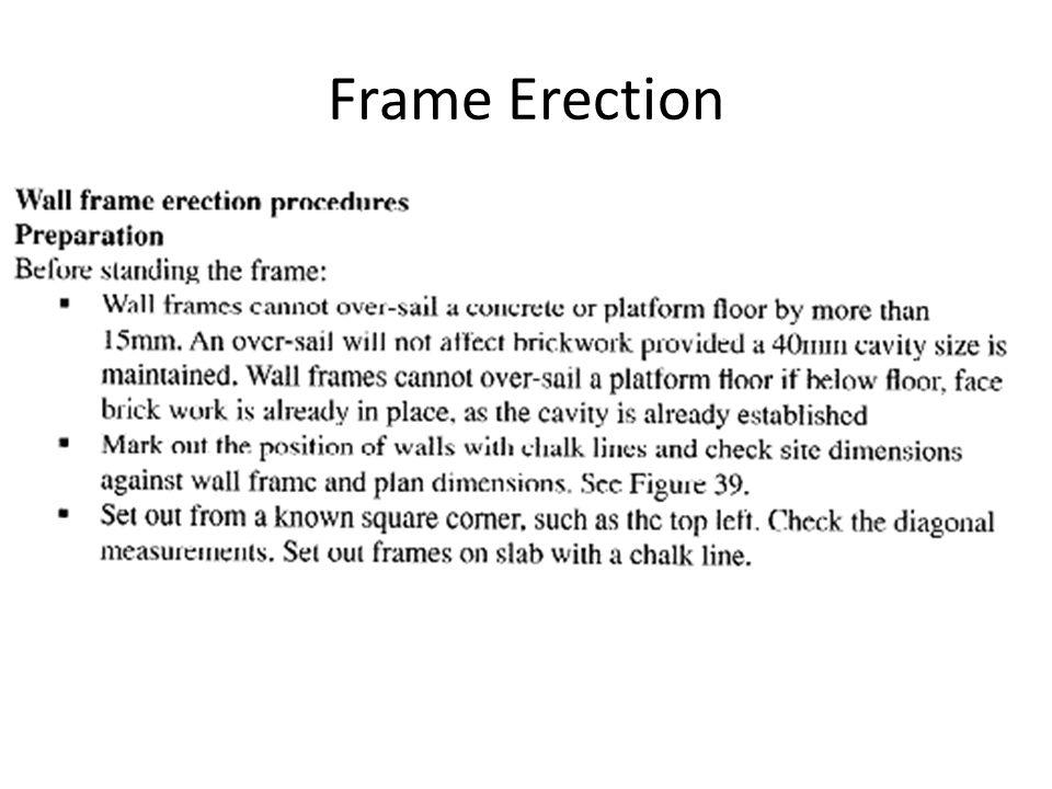 Frame Erection