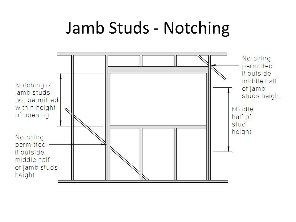 Jamb Studs - Notching
