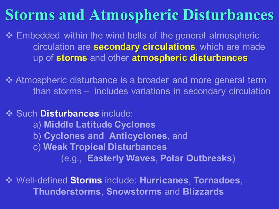 Storms and Atmospheric Disturbances
