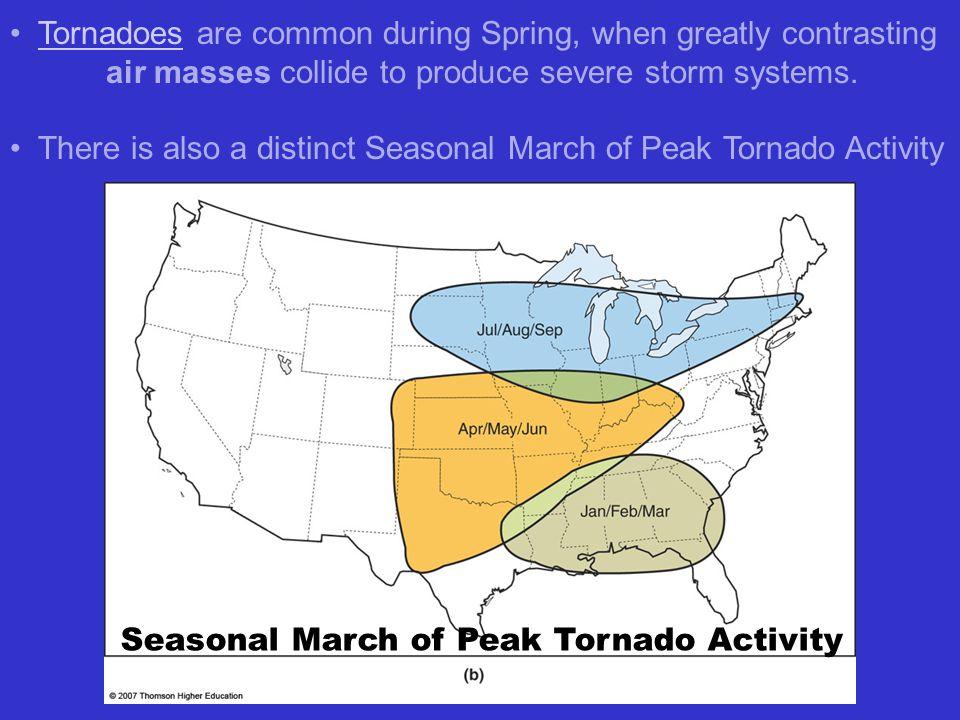 Seasonal March of Peak Tornado Activity