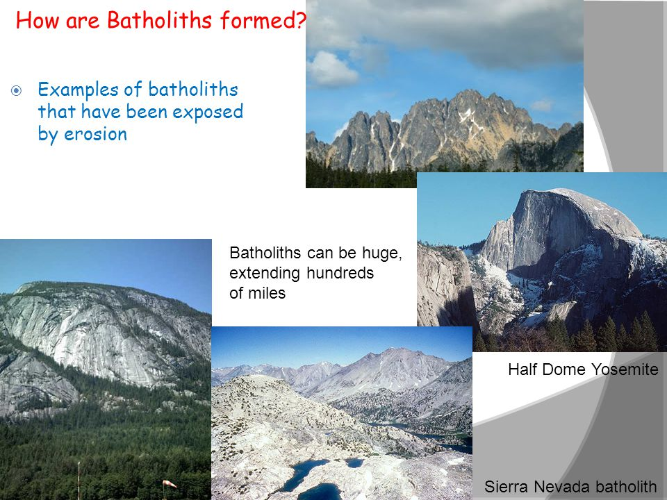 How are Batholiths formed