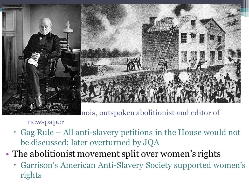 Abolitionism Opposition and Internal Conflict: