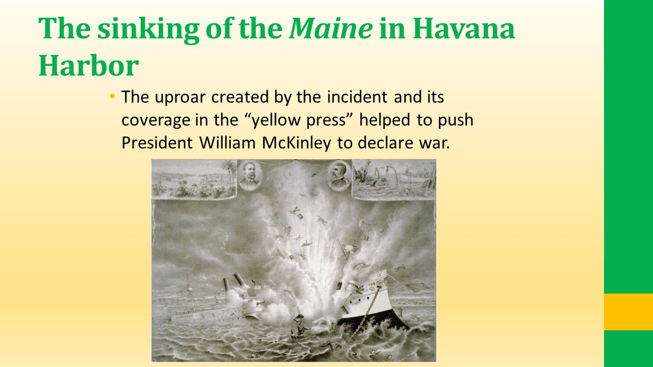 The sinking of the Maine in Havana Harbor