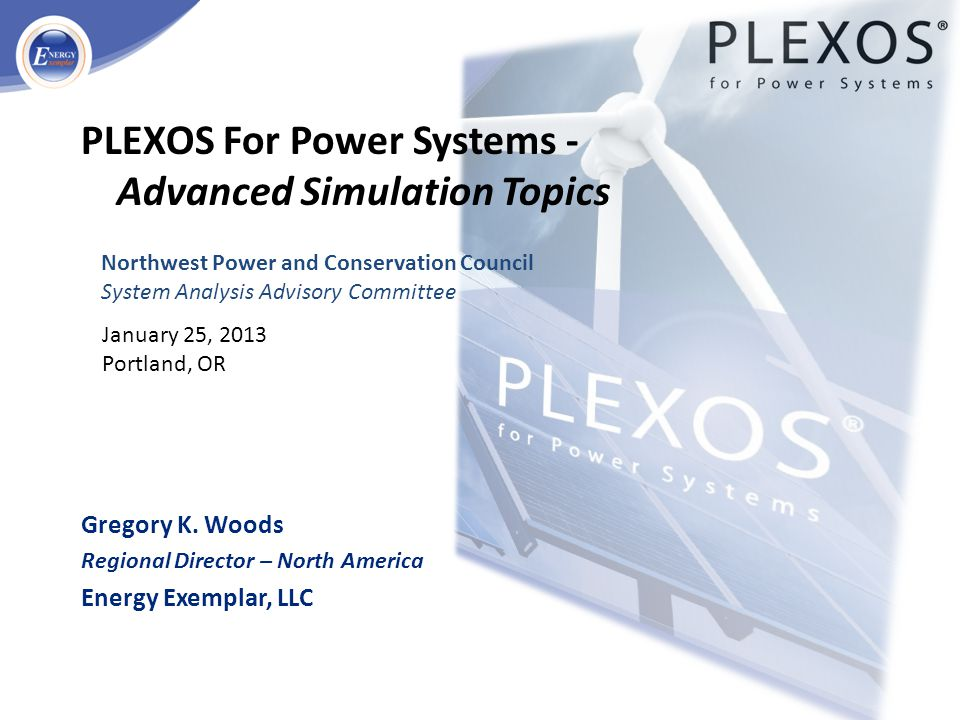 PLEXOS For Power Systems - Advanced Simulation Topics