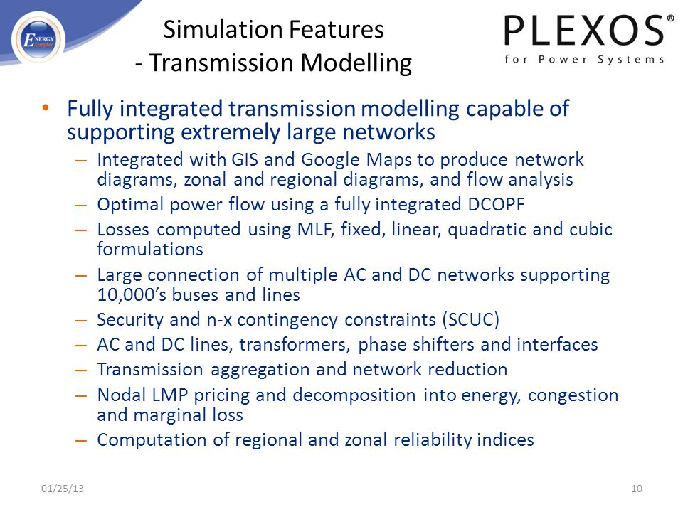 Simulation Features - Transmission Modelling