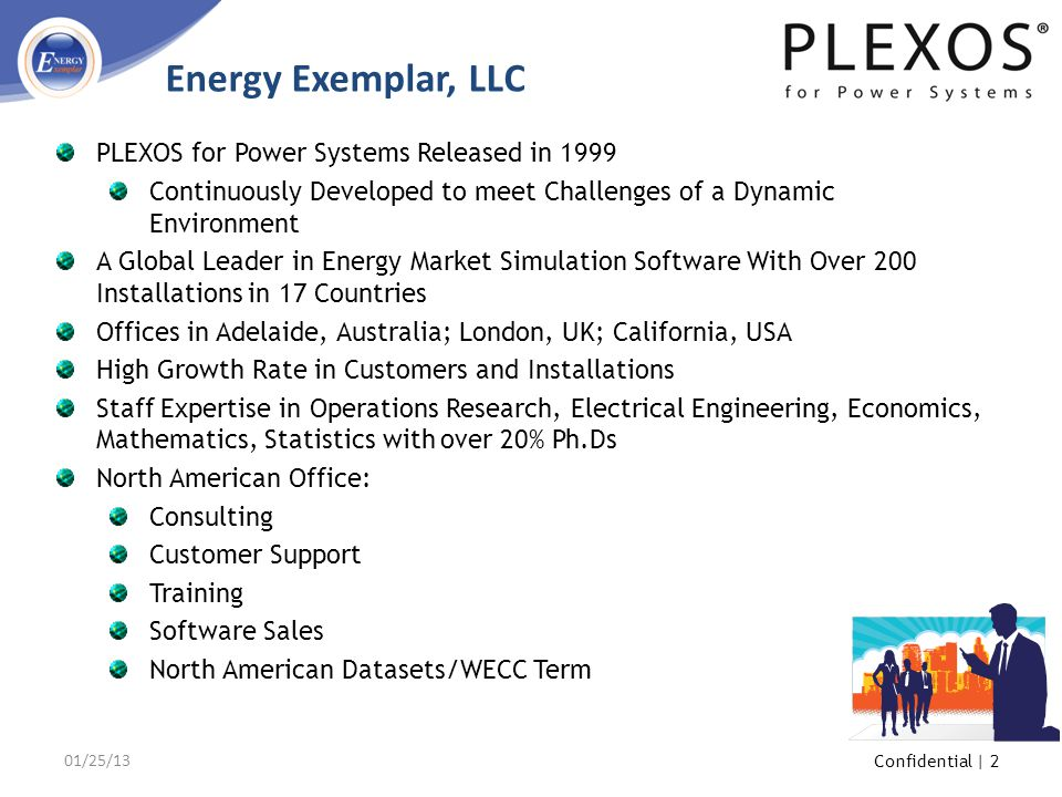 Energy Exemplar, LLC PLEXOS for Power Systems Released in 1999