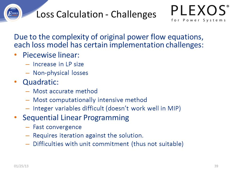 Loss Calculation - Challenges