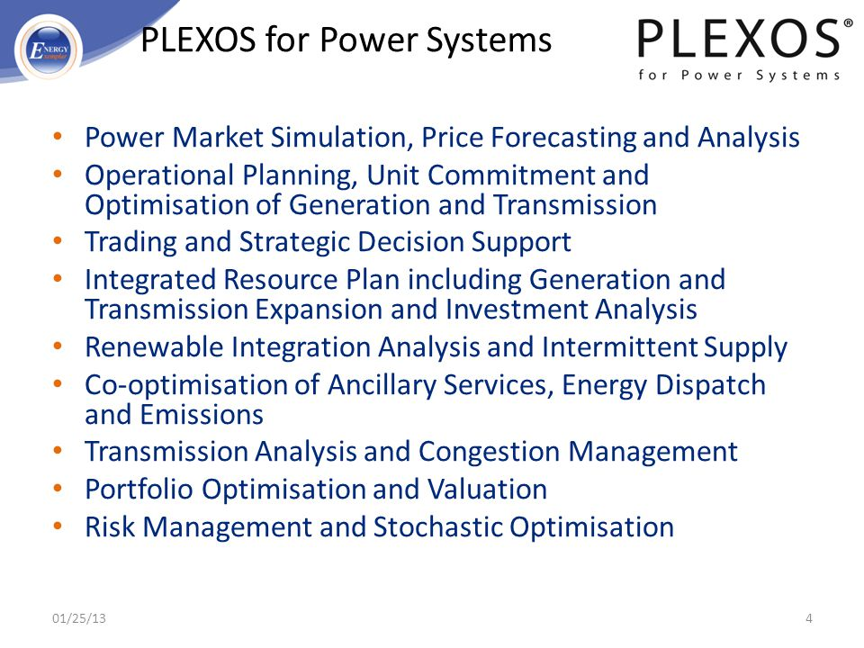 PLEXOS for Power Systems