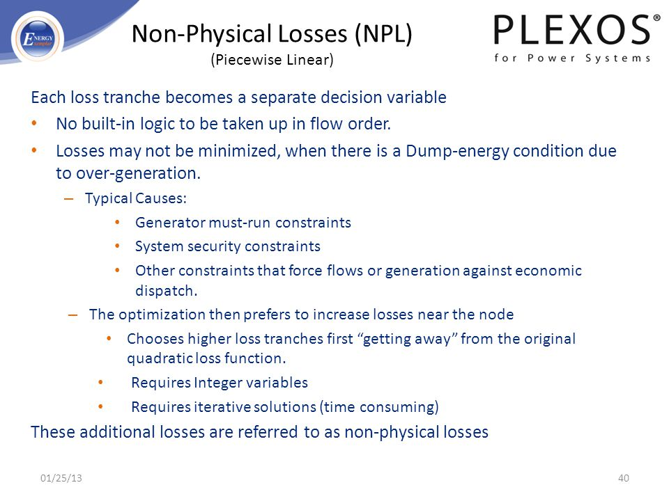 Non-Physical Losses (NPL) (Piecewise Linear)