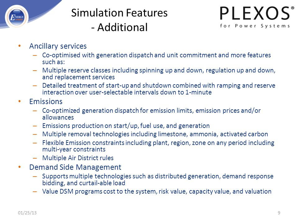 Simulation Features - Additional