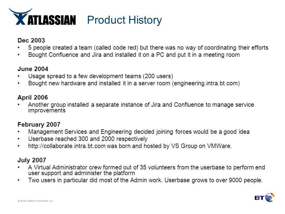 Product History Dec 2003 June 2004 April 2006 February 2007 July 2007
