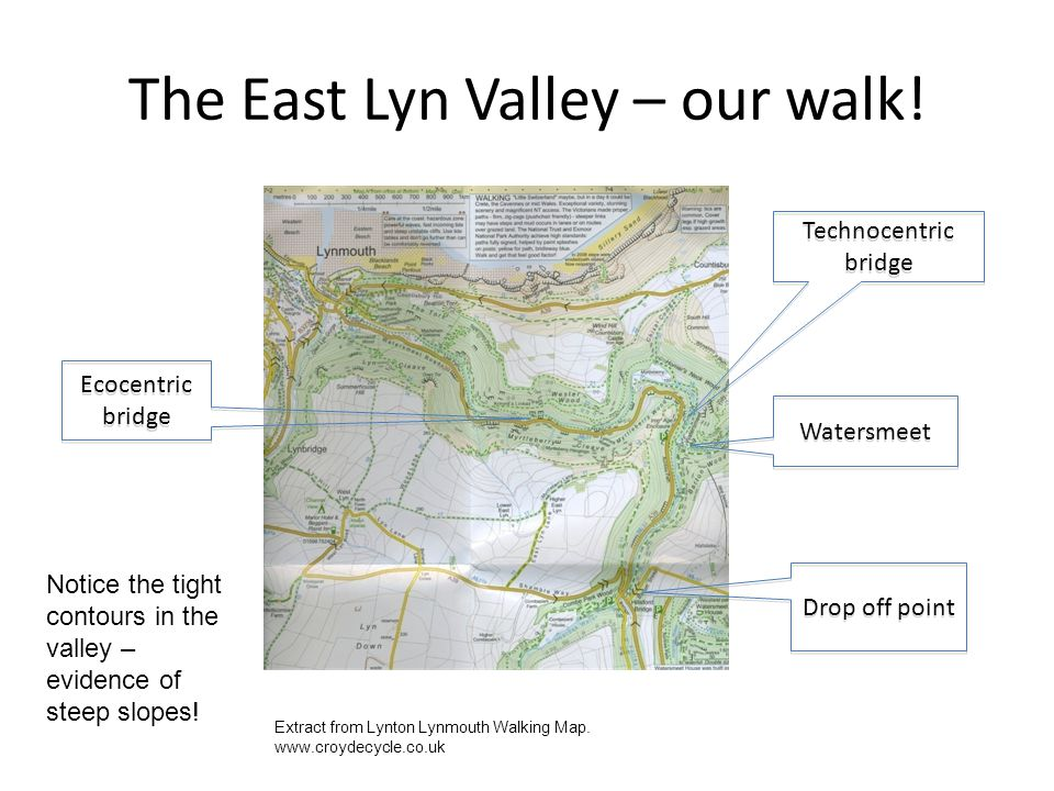 The East Lyn Valley – our walk!