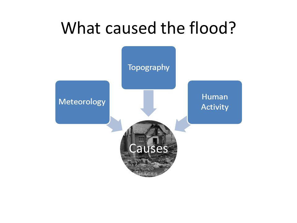 What caused the flood Causes Meteorology Topography Human Activity
