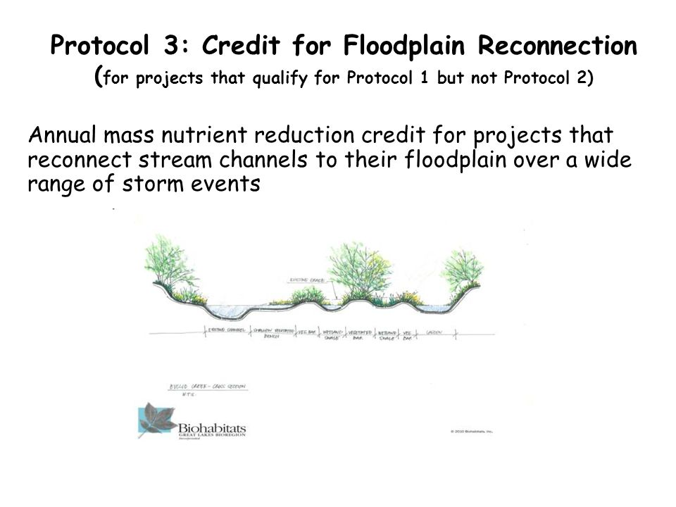Protocol 3: Credit for Floodplain Reconnection (for projects that qualify for Protocol 1 but not Protocol 2)