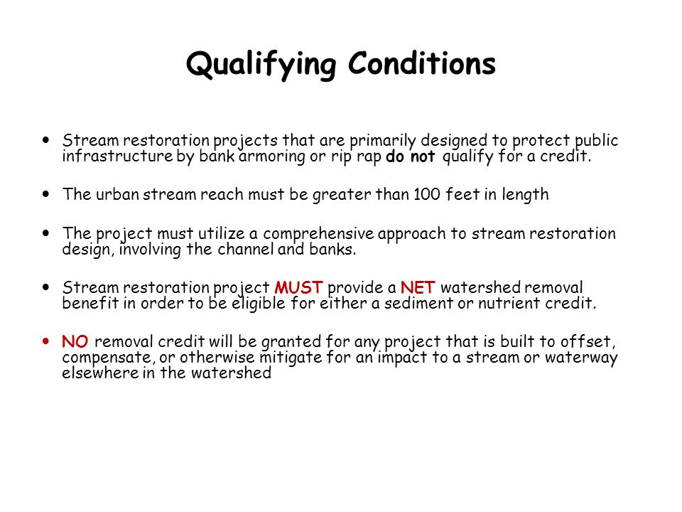 Qualifying Conditions