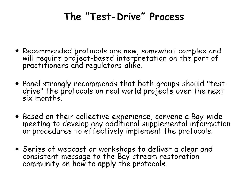 The Test-Drive Process