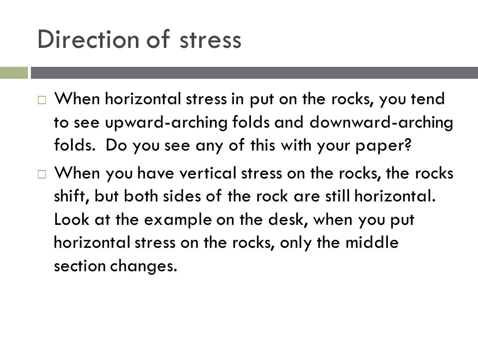 Direction of stress