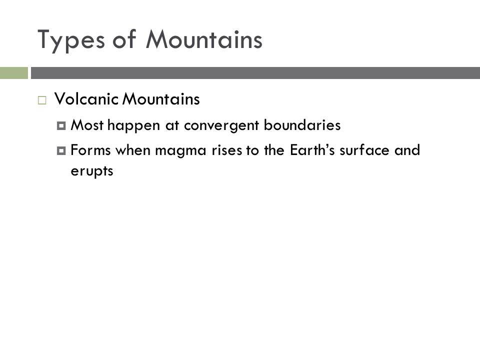 Types of Mountains Volcanic Mountains
