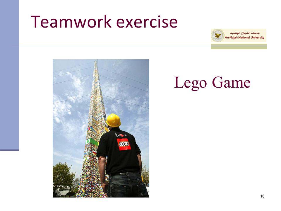 Teamwork exercise Lego Game