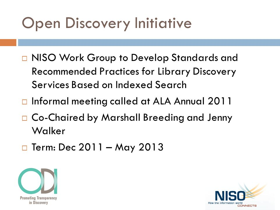 Open Discovery Initiative