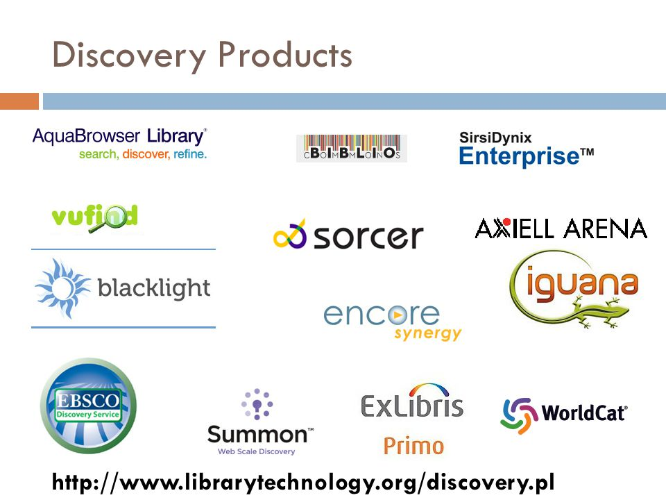 Discovery Products http://www.librarytechnology.org/discovery.pl