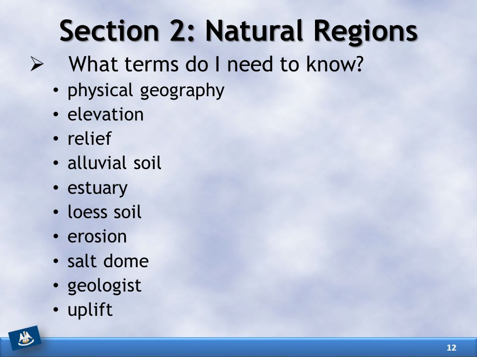 Section 2: Natural Regions