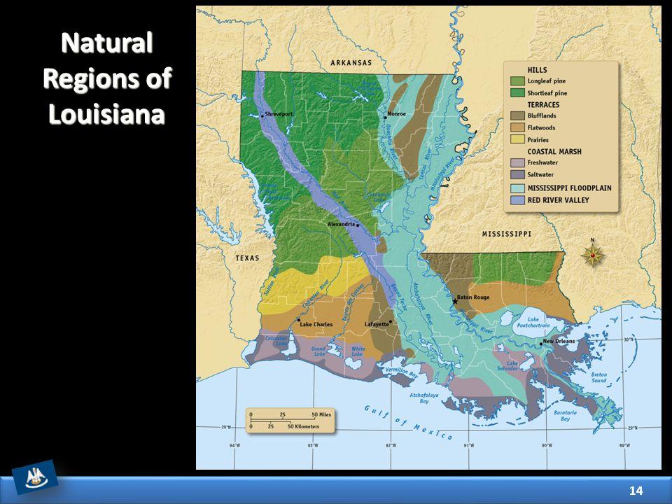 Natural Regions of Louisiana