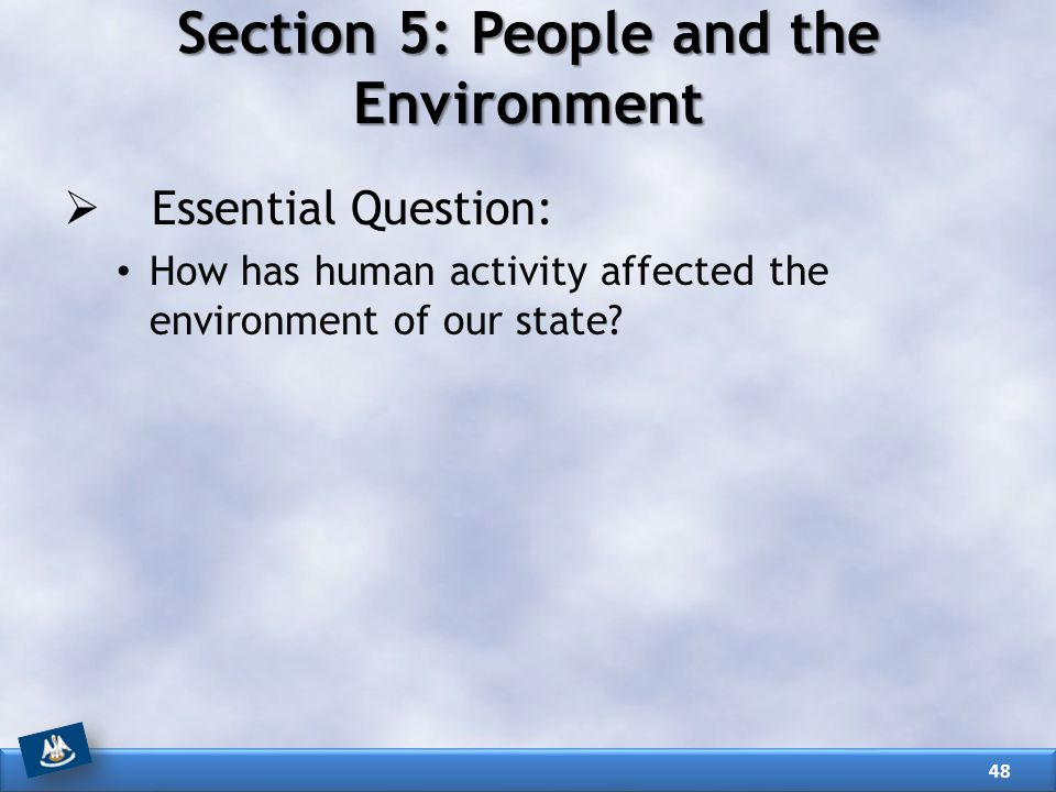 Section 5: People and the Environment