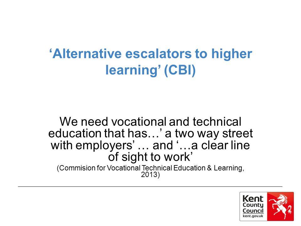 'Alternative escalators to higher learning' (CBI)