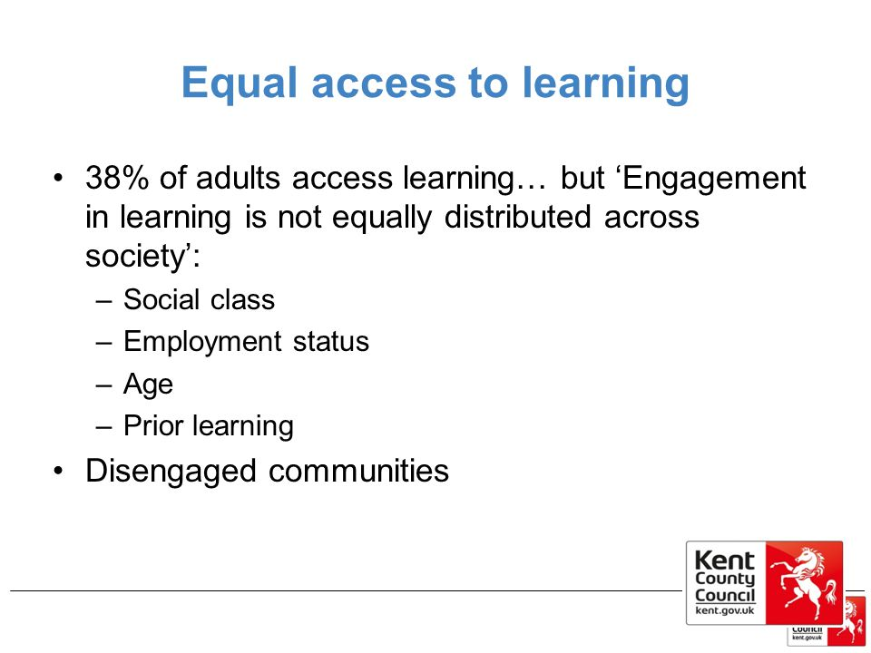 Equal access to learning