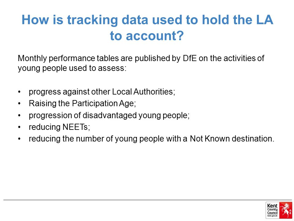 How is tracking data used to hold the LA to account