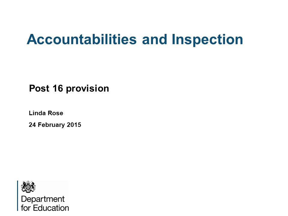 Accountabilities and Inspection