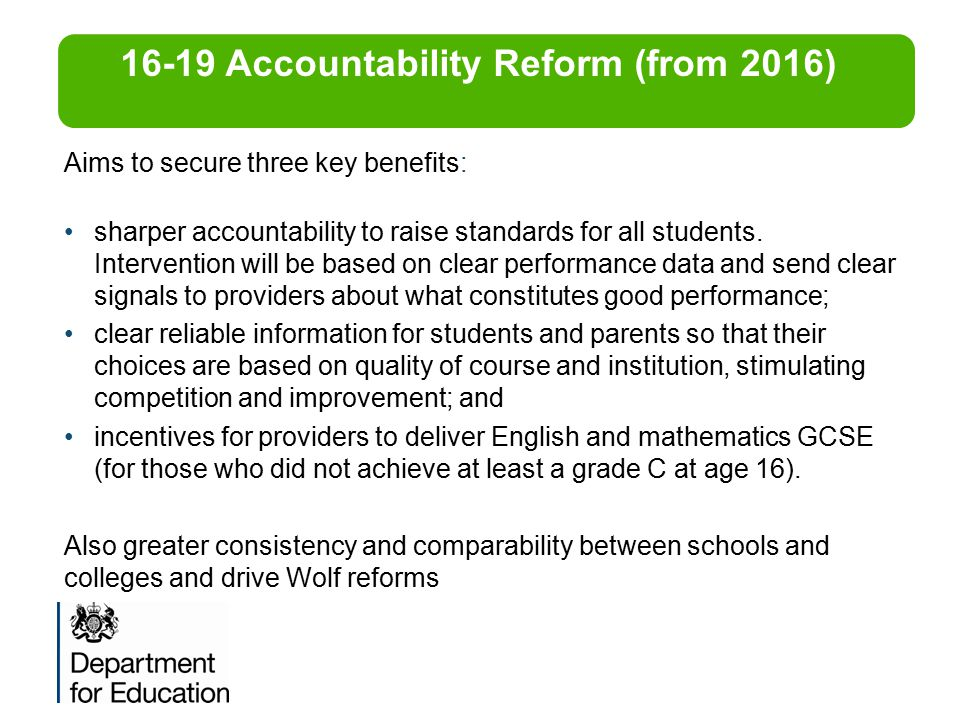 16-19 Accountability Reform (from 2016)