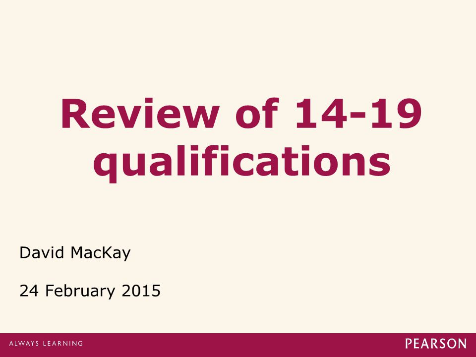 Review of 14-19 qualifications