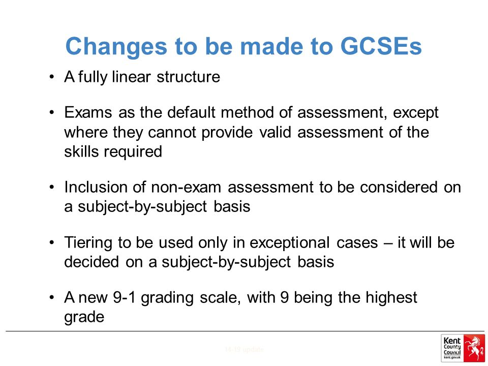 Changes to be made to GCSEs