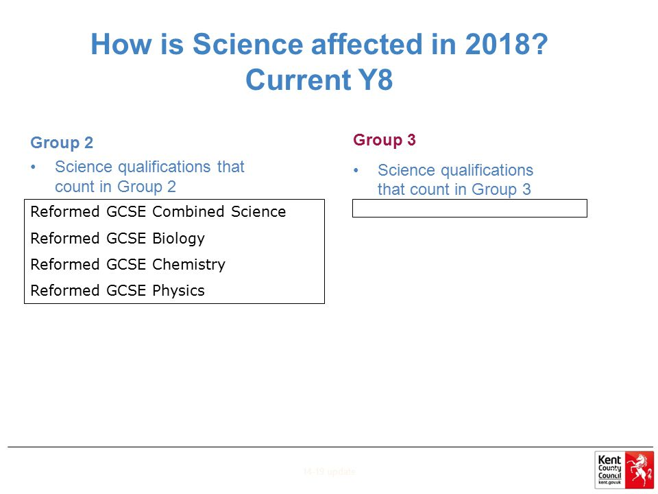 How is Science affected in 2018 Current Y8