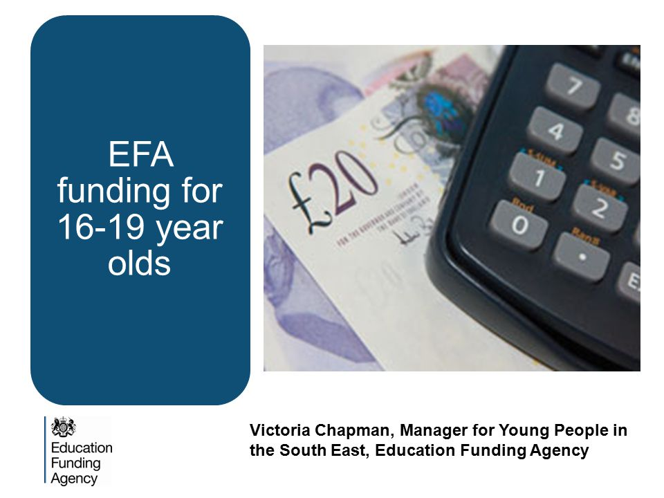 EFA funding for 16-19 year olds
