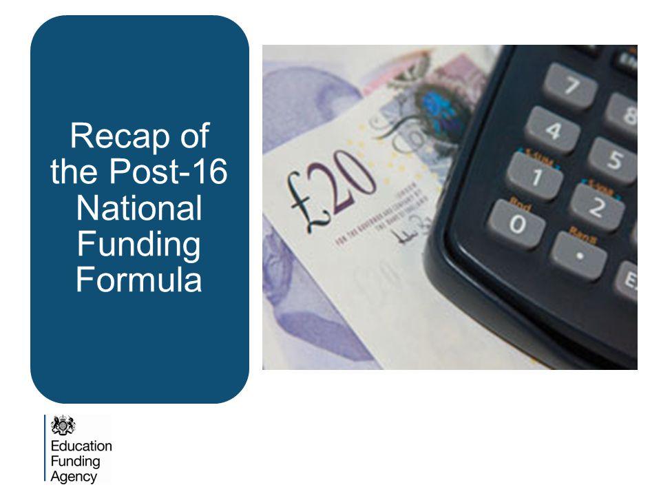 Recap of the Post-16 National Funding Formula