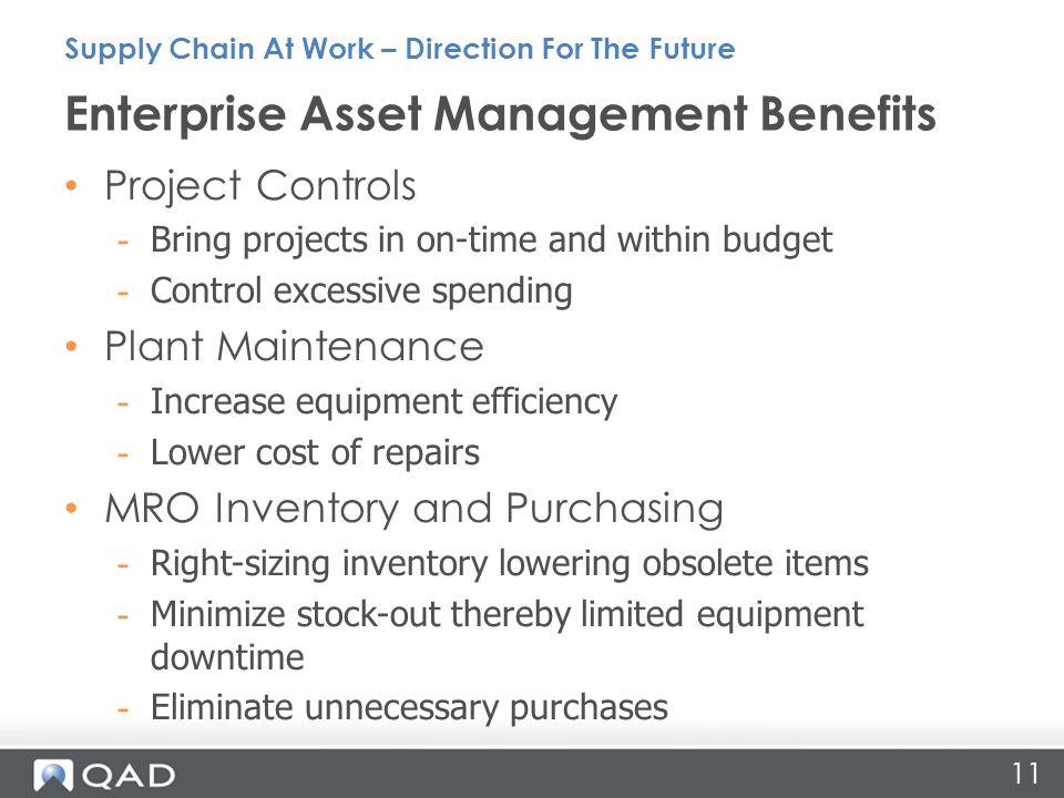 Enterprise Asset Management Benefits