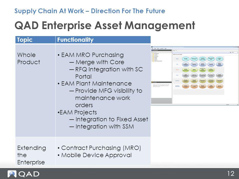 QAD Enterprise Asset Management