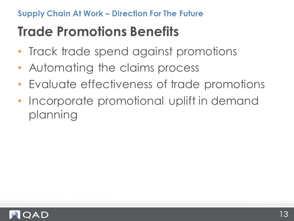 Trade Promotions Benefits