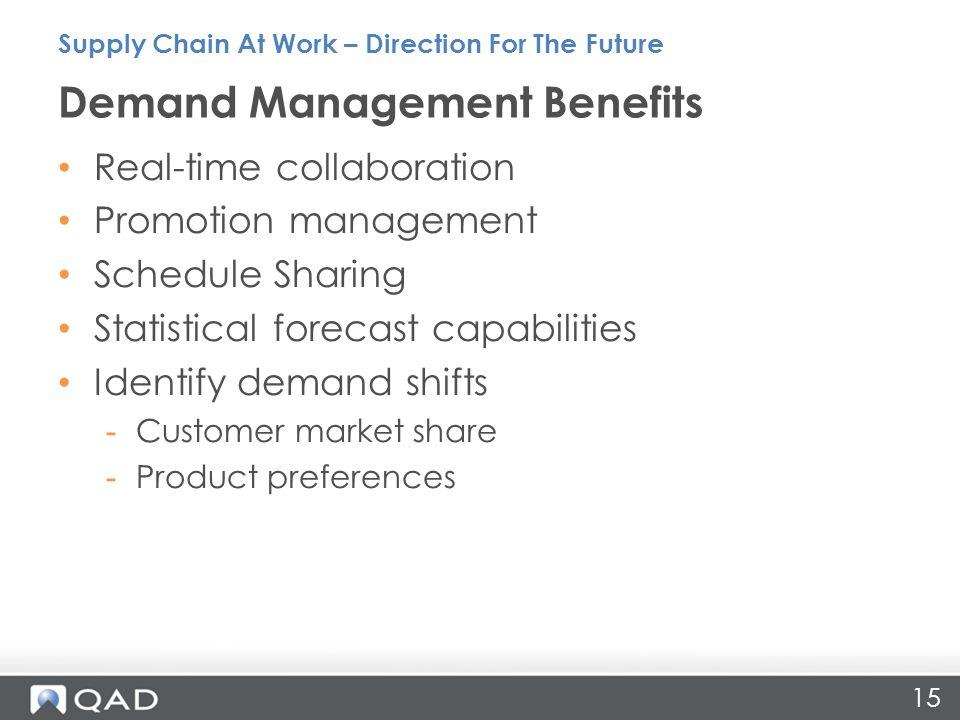 Demand Management Benefits