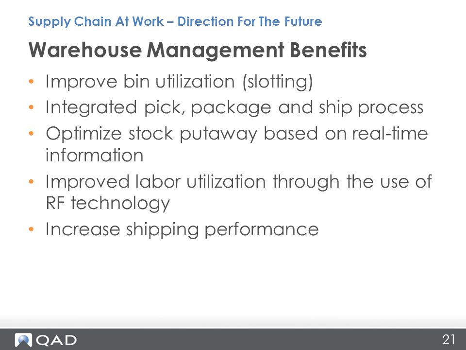 Warehouse Management Benefits