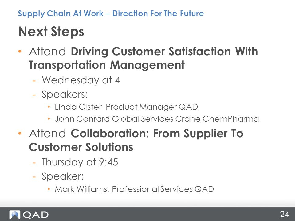 Supply Chain At Work – Direction For The Future