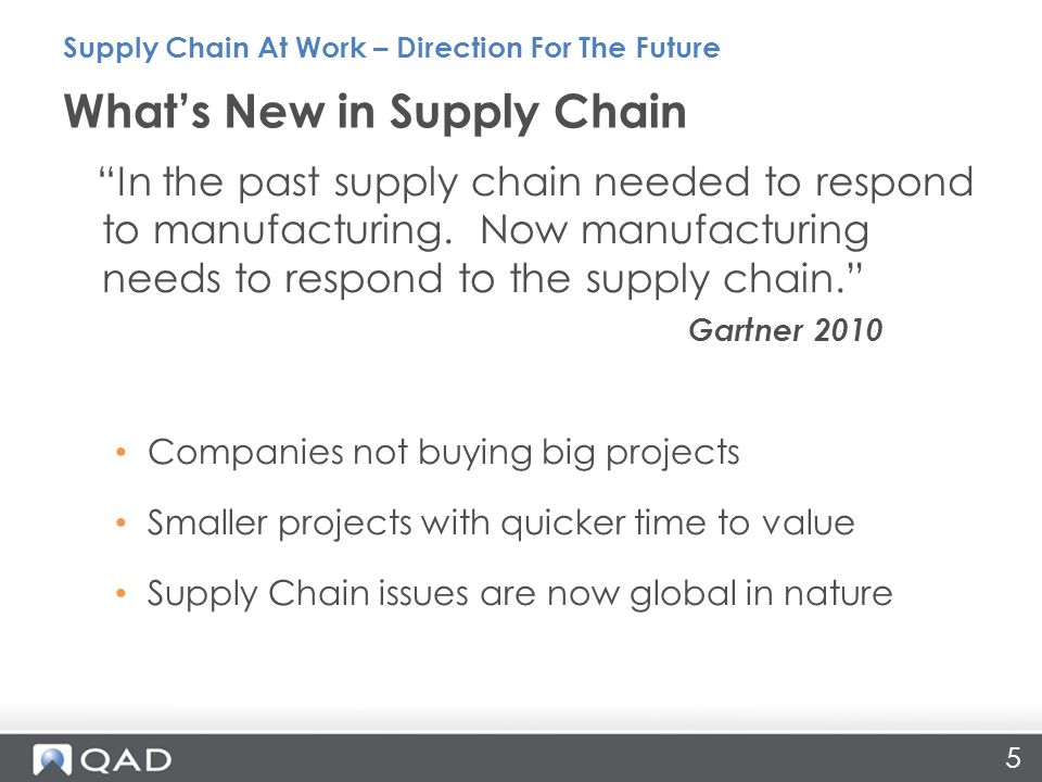 What's New in Supply Chain