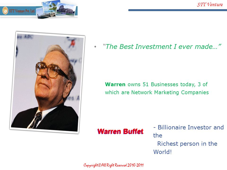 Warren Buffet The Best Investment I ever made…