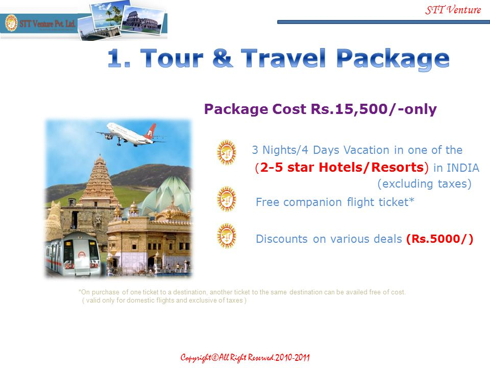 1. Tour & Travel Package Package Cost Rs.15,500/-only