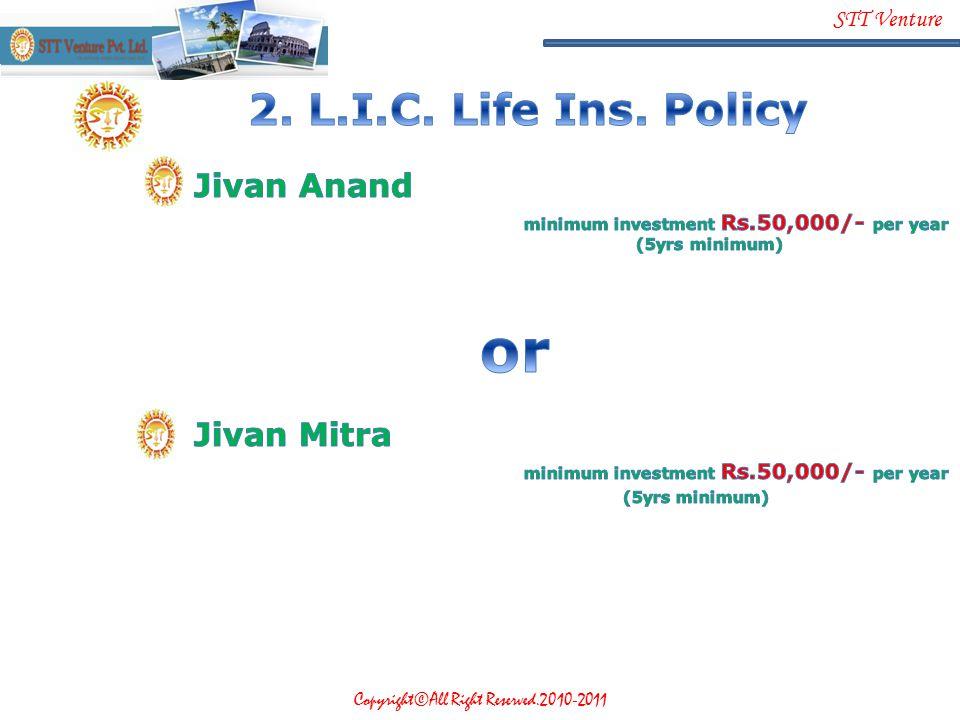 2. L.I.C. Life Ins. Policy Jivan Anand Jivan Mitra