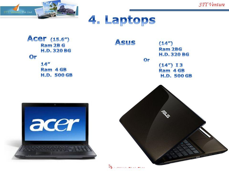 4. Laptops Acer (15.6 ) Asus (14 ) Or 14 Ram 2B G H.D. 320 BG Ram 2BG